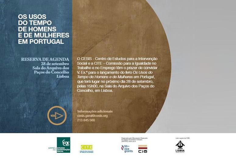 Lançamento do livro «Os Usos do Tempo de Homens e Mulheres em Portugal»