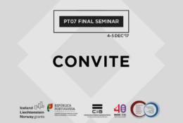 CONVITE – Seminário Final do Programa PT07: Integração da Igualdade de Género e Promoção do Equilíbrio entre o Trabalho e a Vida Privada
