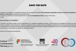 SAVE THE DATE: 4-5 /12/2017 – Seminário Final do Programa PT07 / Final Seminar of the PT07 Programme